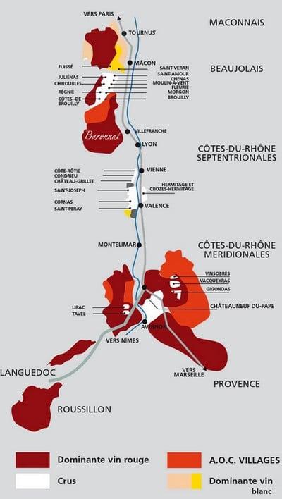 carte vignobles